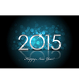 2015 - happy new year blue background blur vector
