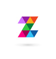 Letter z mosaic logo icon design template elements vector