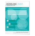 Blue brochure design template vector