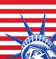 Liberty statue face vector