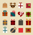 Color gift boxes icons collection vector