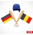 Symbols of baseball team germany and belgium vector