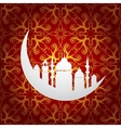 Ramadan holy month symbol with moon and mosque vector
