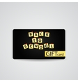 Abstract beautiful back to school gift card vector
