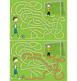 Football maze vector