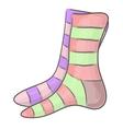 Striped socks vector