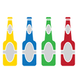 Beer bottle colored set vector