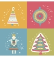 Happy new year christmas eve set vector