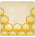 Honeycomb old background vector