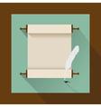 Vintage jewish scrol flat vector
