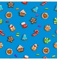 Background with gingerbreads vector