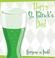 Funky bright st patricks day card in format vector