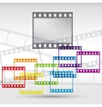 Abstract background with a film strip eps 10 vector
