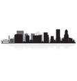 Portland usa city skyline silhouette vector