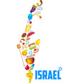 Holy object forming map of israel vector