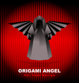Black origami angel vector