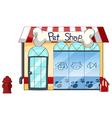 A pet shop vector