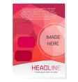 Red brochure design template vector
