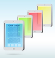 Abstract tablet icon background vector