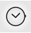 Watch icon flat design vector