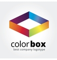 Abstract box logotype concept isolated on white vector