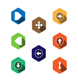 Set icons with arrows flat design vector