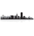 San francisco usa city skyline silhouette vector