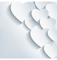 Stylish creative abstract background 3d heart vector