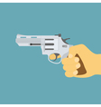 Hand with gun vector