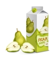 Juice pack pear vector