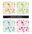 Seamless pattern with bubbles vector