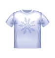 T-shirt snowflake isolated clothing white clothes vector