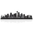 Seattle usa city skyline silhouette vector