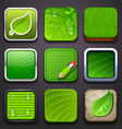 Background for the app icons-eco part vector