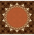 Brown vintage background with gold frame vector