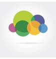 Abstract colored icon isolated on color background vector