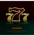 Golden 777 background vector