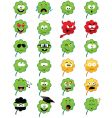 Clover shaped emoticons vector
