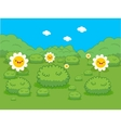 Spring with flower lanscape vector