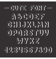 Simple monochrome hand drawn font complete abc vector