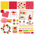 Design elements - poppy flowers theme vector