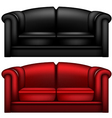 Leather sofa vector