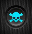 Skull and crossbones button vector