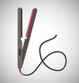 Hair iron design vector