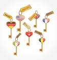 Set of keys with flags vector