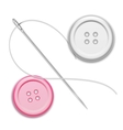 Needle thread and buttons vector
