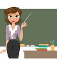 Teacher at the blackboard vector