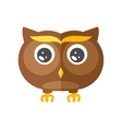 Cute little flat owl vector