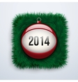 Christmas ball with the date new year 2014 vector