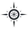 Navigation wind rose vector